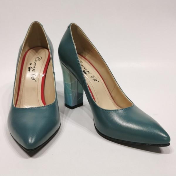 Pantofi dama stiletto vernil
