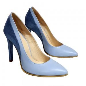 Pantofi Stiletto Bleu Pastel