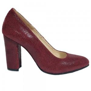 Pantofi stiletto vișiniu