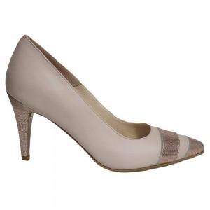 Pantofi stiletto nude toc subtire