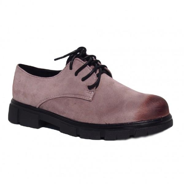 Pantofi Bej cu siret