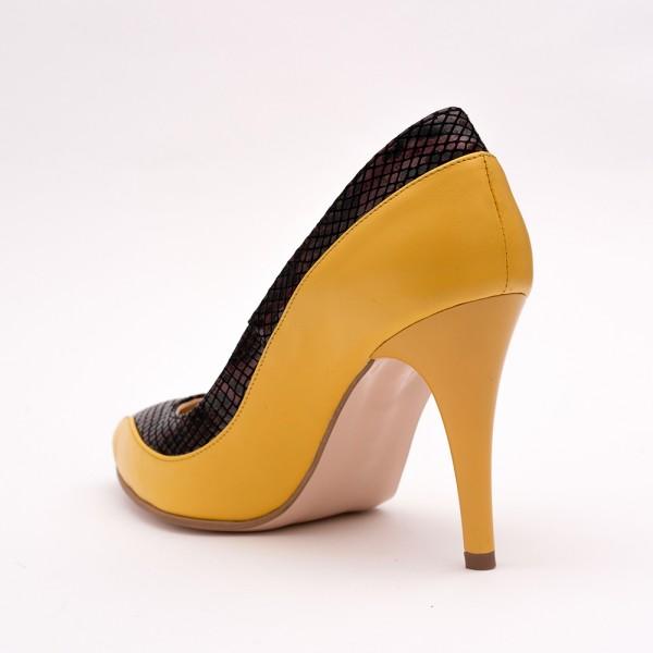 Pantofi Stiletto Galben Mustar