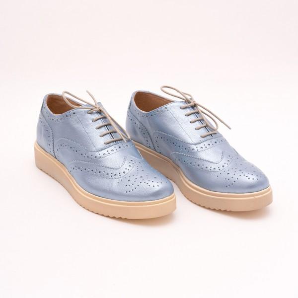Pantofi Bleu cu șiret