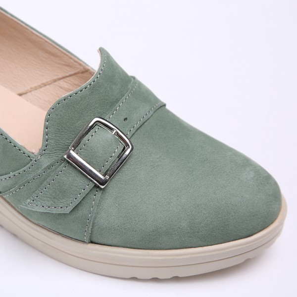 Green Balerrinas with Thick Sole