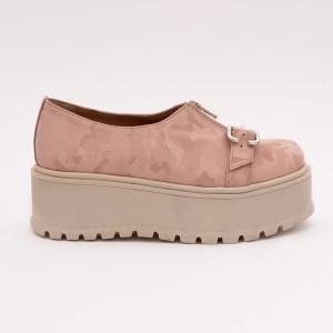 Pantofi Roz cu Talpa Inalta