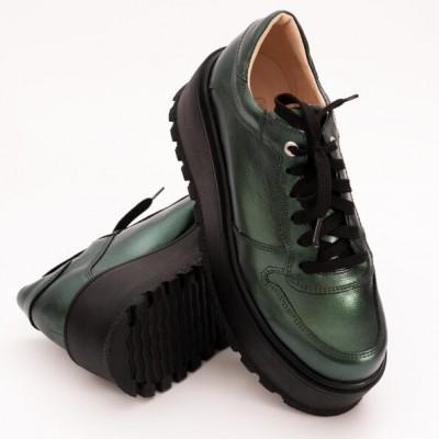 Pantofi Verzi cu Platforma