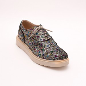Casual Golden Mosaic shoes with laces