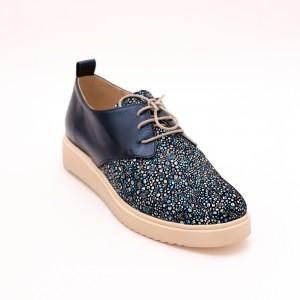 Pantofi Bleumarin cu șiret