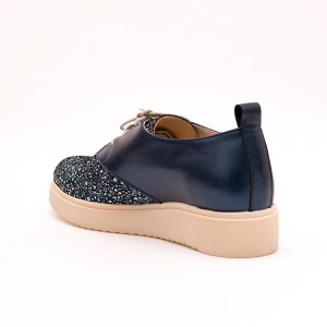 Casual Dark blue shoes with laces