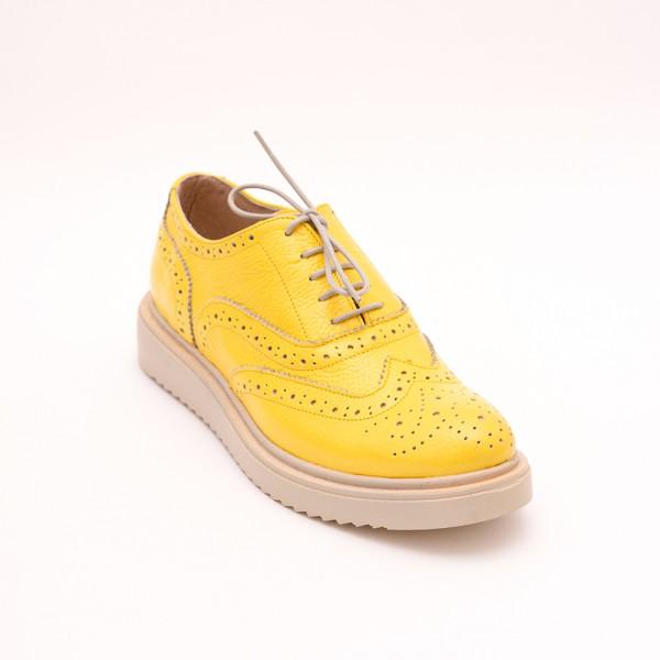 Pantofi Galbeni cu șiret