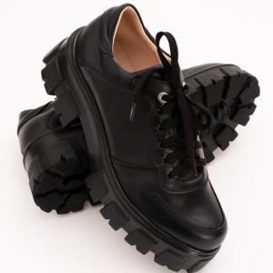 Pantofi Negri cu Talpa Inalta