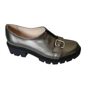 Pantofi aurii cu talpa inalta