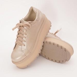 Pantofi Aurii cu Siret