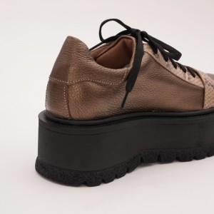 Pantofi Bronz cu Siret