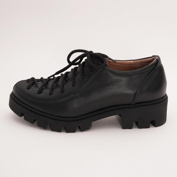 Pantofi casual negri cu siret