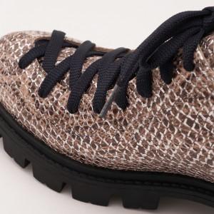 Pantofi Crem cu Siret