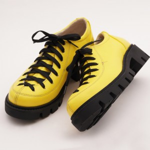 Pantofi Galbeni cu Siret