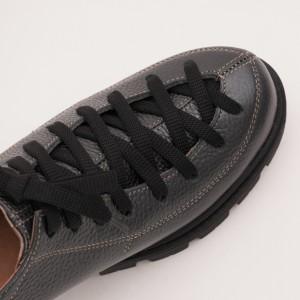 Pantofi Gri Antracit cu Siret