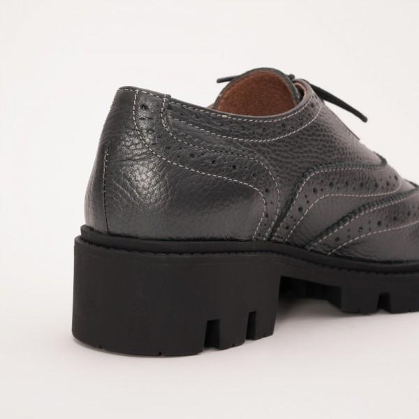 Pantofi Gri cu Siret