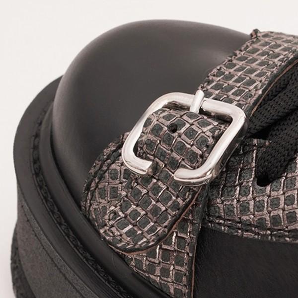 Pantofi Negri cu Siret