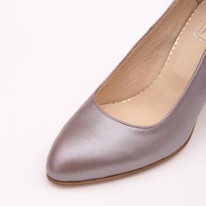 Pantofi lila cu toc gros