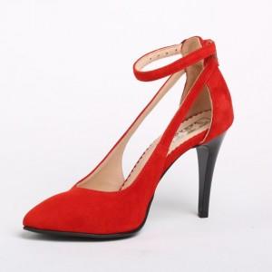 Pantofi Rosii Decupati