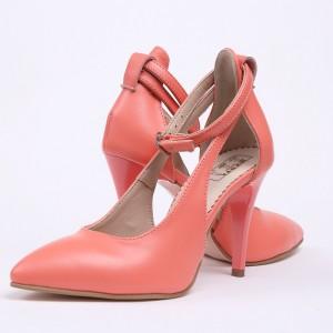 Pantofi dama somon decupati