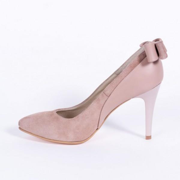 Pantofi Stiletto Bej Pal