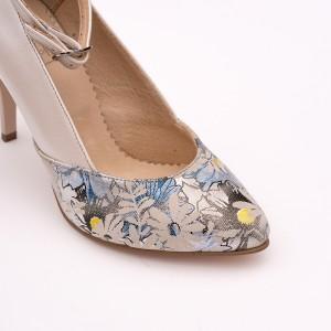 Pantofi Stiletto Crem Sidef