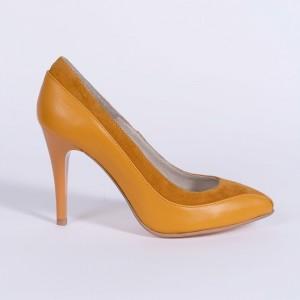 Mustard Stiletto Shoes