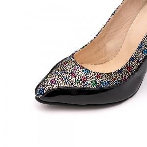 Pantofi Stiletto Negri Mozaic