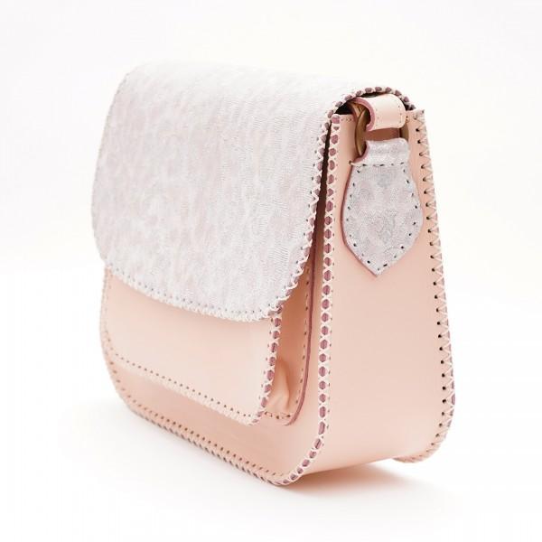 Geanta din piele Roz