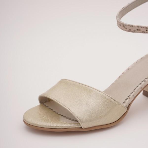 Sandale Aurii cu Toc