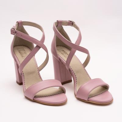 Sandale Roz cu Toc