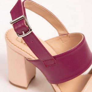 Beige Mauve Sandals with high heel