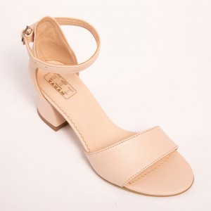 Cream Sandals with low heel