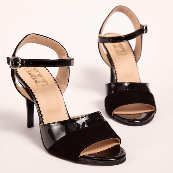 Sandale Negre cu toc stiletto