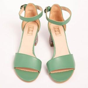 Sandale Verzi cu toc jos