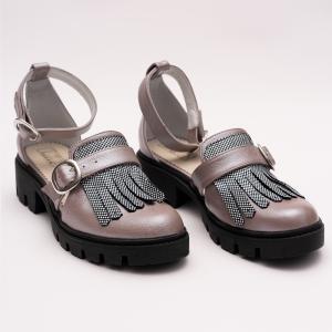 Pantofi Casual Decupati Argintii